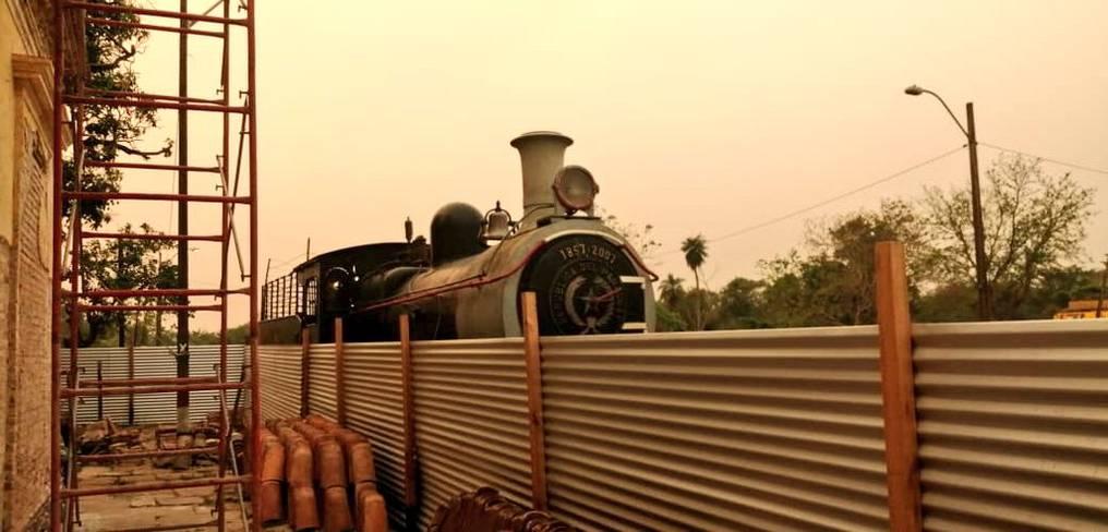 """El Tren """"El Inglés"""" también se alista para formar parte del atractivo turístico de Ypacaraí. Foto: Gentileza."""