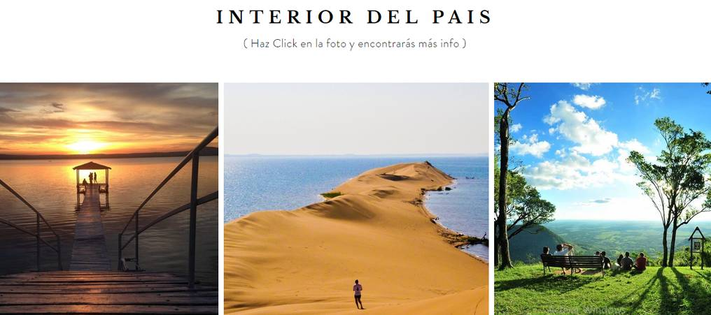 En el portal se encuentran los mejores sitios para realizar turismo interno. Foto: Gentileza.