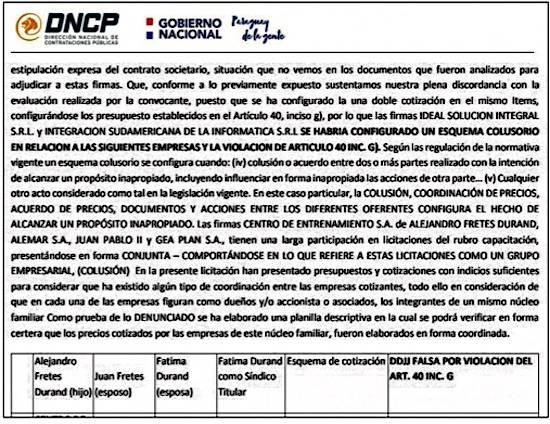 Resolución de la DNCP que anula la adjudicación de la firma Centro de Entrenamiento SA.