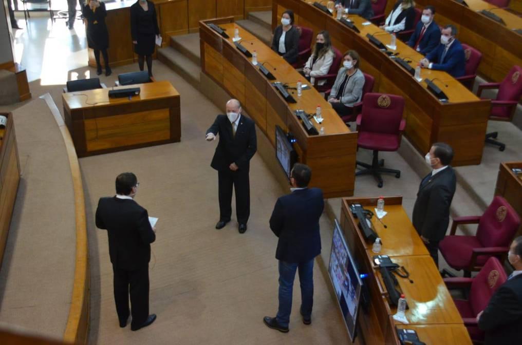 César Diesel juró hoy como nuevo ministro de la Corte Suprema de Justicia. Foto: Gentileza.