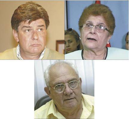 Los acusados Noyme Yore, exdefensora general; Germán Fatecha, director de Planificación del MDP están acusados por lesión de confianza. Foto: Gentileza.