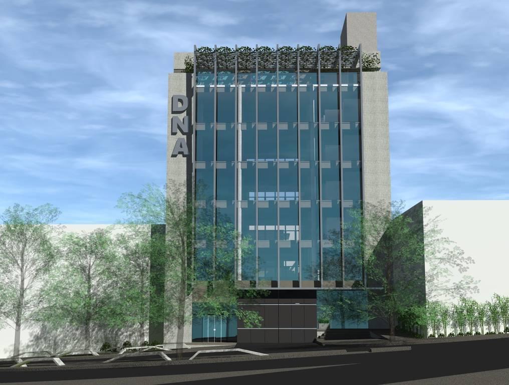 El edificio DNA 1 Costanera tendrá nueve niveles y próximamente se iniciará Costanera DNA 2, que estiman tendrá cerca de 10 pisos. Foto: Gentileza.