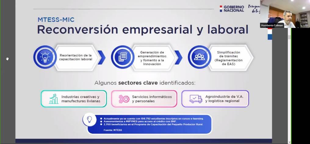 El plan de reactivación incluye también una reconversión empresarial y laboral en sectores claves, fomento a la innovación y simplificación de trámites. Foto: Gentileza.