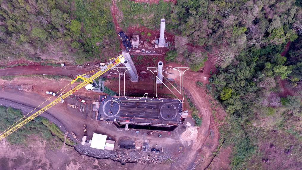 Así avanza la ejecución del Puente de la Integración. Foto: Pánfilo Leguizamón