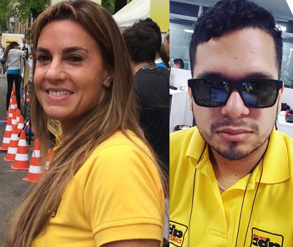 Natalia Zuccolillo y Juan Carlos Lezcano, directora y periodista de Abc Color, respectivamente. Foto: Gentileza.