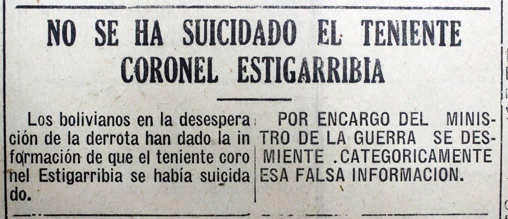 """Los medios paraguayos desmintieron el """"fake news"""" del gobierno boliviano, que anunciaba la ruptura del cerco de Boquerón y la muerte del comandante paraguayo. Foto: Juan Carlos Dos Santos."""