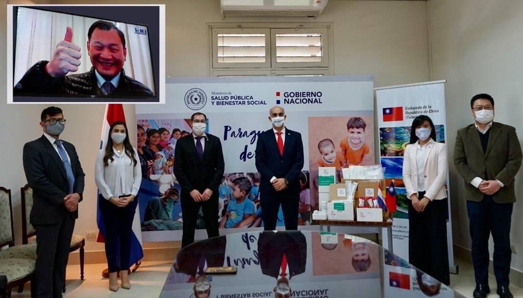 El embajador de Taiwán acompañó la entrega de forma virtual. Foto: Gentileza