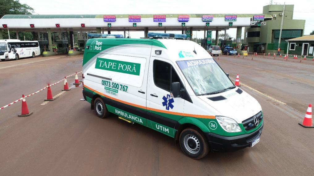 Tape Porä, además de construir el nuevo camino, presta servicio de ambulancia, grúas para auxilio mecánico y un patrullaje constante. Foto: Gentileza.
