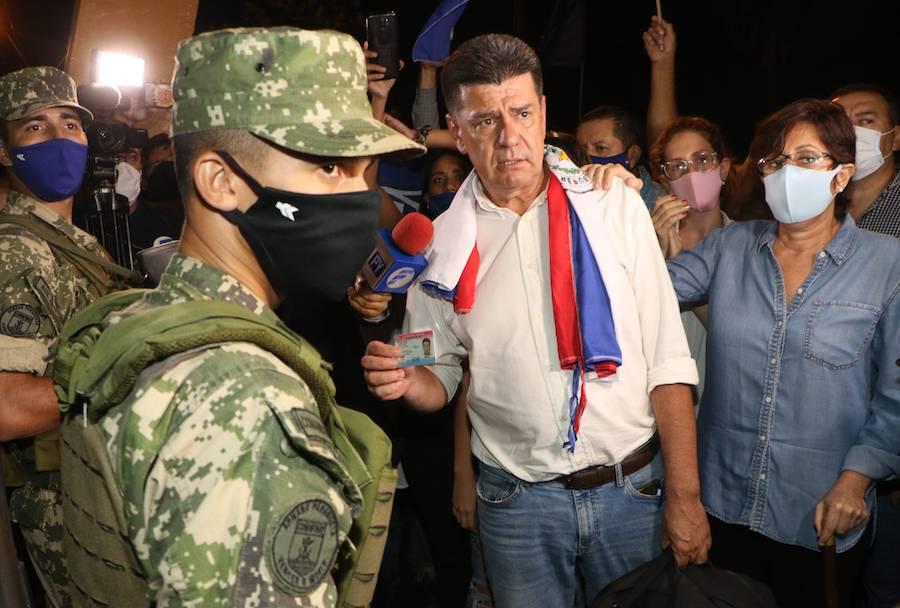 Efraín Alegra actualmente guarda prisión preventiva en la Agrupación Especializada.FOTO:ARCHIVO