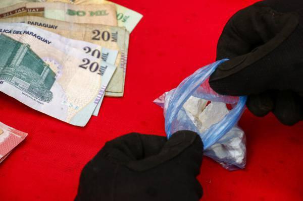 La cantidad de la droga hallada ascendía a los 30 gramos, todavía sin dosificar. Foto: Gentileza.
