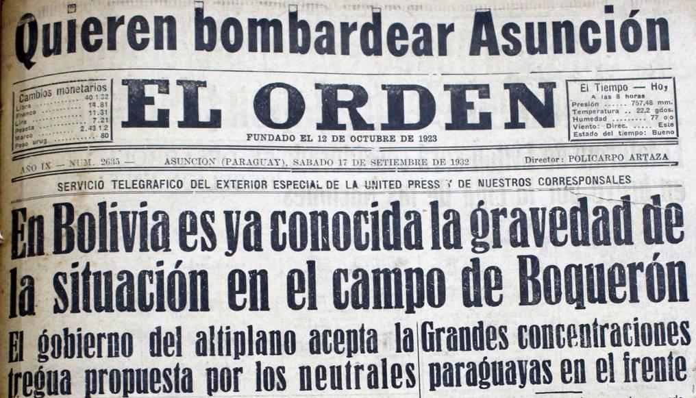 El diario El Orden envió a un corresponsal al frente de batalla. Foto: Juan Carlos Dos Santos.