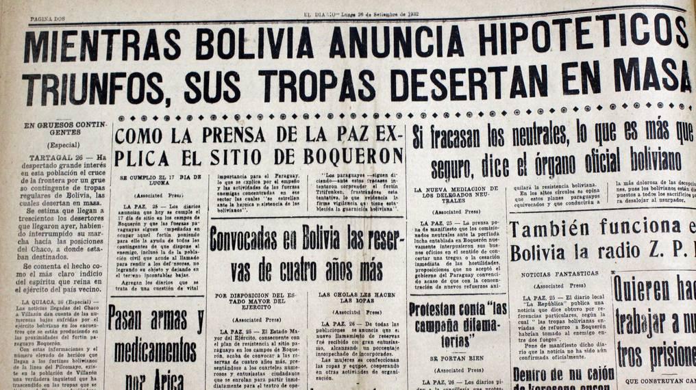Las informaciones falsas eran moneda corriente en los medios de prensa, a consecuencia de la intensa propaganda que ambos gobiernos emitían. Foto: Juan Carlos Dos Santos.